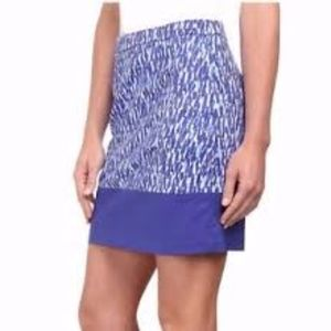 NWT Michael Michael Kors Blue Print Skirt size 8